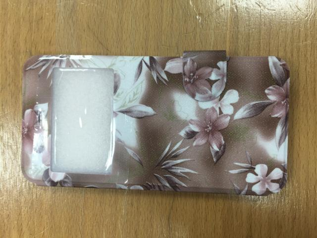 IPHONE 6 FLOWERS ON BROWN WINDOW BOOK CASE